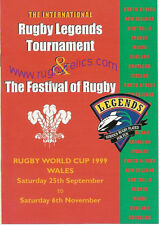 WALES 1999 RUGBY LEGENDS TOURNAMENT & FESTIVAL OF RUGBY PROGRAMME