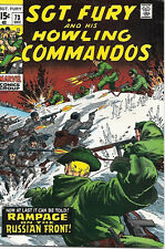 Sgt. Fury and His Howling Commandos Comic Book #73 Marvel 1969 FINE+