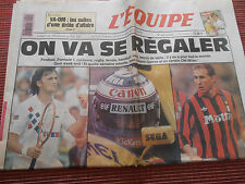 JOURNAL L'EQUIPE  LECONTE / PROST / PAPIN  / 22 / 05 / 1993 ( ref c )