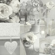 Roses Wallpaper Flowers Floral Love Hearts Typography Bouquet Pearls Grey White