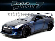 JADA 97035 FAST AND FURIOUS 7 BRIAN'S 2009 09 NISSAN SKYLINE GT R R35 1/18 BLUE