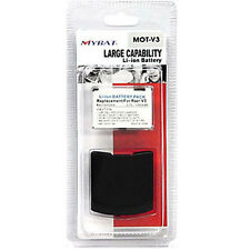 New Motorola Razr V3 1300mAh  Battery and Black Battery Cover