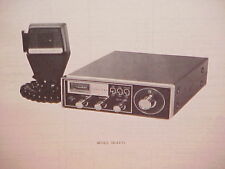 1977 TRUETONE CB RADIO SERVICE SHOP MANUAL MODEL DC4672