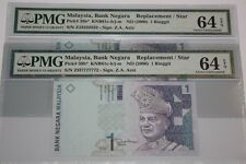 "(PL) RM 1 ZJ 3333332 PMG 64 EPQ 1 PIECE ONLY ALMOST SOLID NUMBER ""Z"" SERIES UNC"