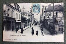 CPA. LE VÉSINET . 78 - Rue de l'Eglise. 1905? Maison Cappe. Ameublements...