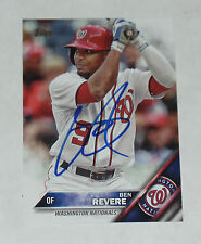 BEN REVERE SIGNED AUTO'D 2016 TOPPS UPDATE CARD #US112 WASHINGTON NATIONALS