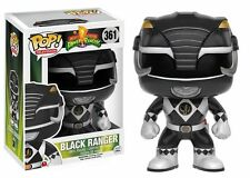 "MIGHTY MORPHIN POWER RANGERS - BLACK RANGER 3.75"" POP TV VINYL FIGURE FUNKO"