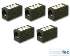 5x KAUDEN CAT6 RJ45 STRAIGHT INLINE COUPLER FEMALE JOINER FOR NETWORK CABLES