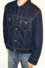 Levi's Denim Type 1 Blue Jeans Iconic Trucker Jacket Men's Sz XL X-Large Nice!!