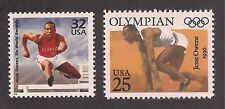 JESSE OWENS - 1936 OLYMPICS GOLD MEDALIST -SET OF 2 U.S. STAMPS - MINT CONDITION