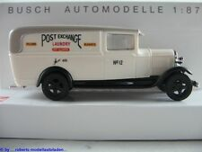 "Busch 47705 Ford Model AA Lieferwagen (1931) ""POST EXCHANGE"" 1:87/H0 NEU/OVP"