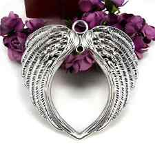 Wholesale Antique Alloy Silver  Angel Wings Charm Pendant Accessories Jewelry