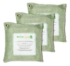 Bamboo Clear-Charcoal Air Cleaning Purifier Bags Deodorizer, Green - 3x500g