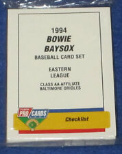 ProCards 1994 Bowie Baysox Minor League Complete Team Card Set