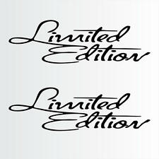 "Limited Edition Script Setof2 Decals Stickers (13""x3"" )"
