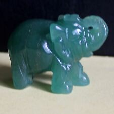 g1334  Carved green aventurine elephant figurine