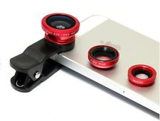 Universal 3in1 Camera Lens - Wide Angle Fish Eye & Macro - iPhone 4 5s 5c 6 iPad