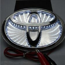 12cm X 8cm 3D White Badge Emblem LED Background Light Sticker For Toyota