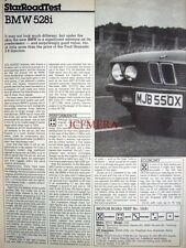 1981 BMW '528i' Car Auto Report Clipping (6-Sided Cutting)