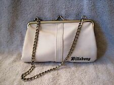 BEAUTIFUL - RARE - WHITE - BILLABONG -CLASP STYLE - EVENING BAG - PURSE - CLUTCH