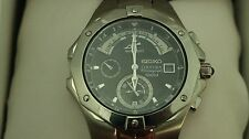 Seiko Men's Coutura Chronograph Watch 7T84-0AB0 Yacht Timer Brand New in Box
