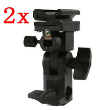 PACx2 Universal Swivel Hot Shoe Flash Holder Type B Light Stand Umbrella Lock