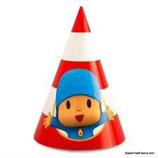 Pocoyo Party Hats Favor Supplies Birthday Decoration Kid Treats Elephant Boy x8