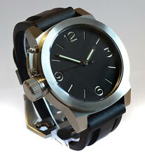 Custom Built 49mm Unique One Only 10ATM Steel Canteen Diver Watch Boat Sub U TW