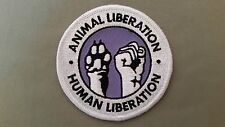 animal liberation embroidered patch
