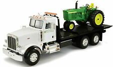 Ertl 1:16 Peterbilt 367 Kids Dealership Delivery Truck w John Deere 4020 Tractor