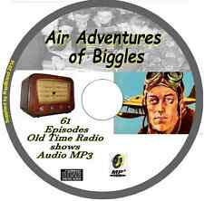 Air Adventures of Biggles  61 OTR Old Time Radio Episodes Audio MP3 on CD