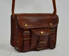 Men's Genuine Leather Vintage  Messenger Handmade Briefcase Bag Satchel.@