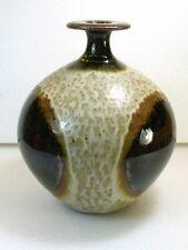 Vintage Mid Century Modern Studio Pottery Vase Flared Top Robert Maxwell Style