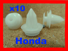 10 Honda body trim side plastic moulding clips retainer fasteners car 9E
