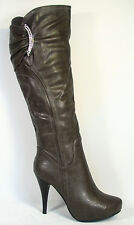 Women's Fashion Sexy Slouch Platform Stiletto Heel Boot Shoes Size 6 - 10 NEW