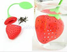 Silicone Strawberry Loose Tea Leaf Strainer Herbal Spice Infuser Filter Diffuser