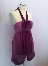 BNWT MONSOON FUSION PURPLE ORIENTAL GARDEN DRESS SIZE 12 RRP £65