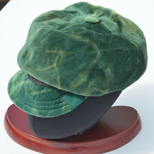 KANGOL BOTTLE GREEN HIPPY HAT VINTAGE VELVET 60s 70 SMALL 55cm NWT NEW WITH TAGS