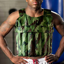 26LBS/12KG Adjustable Weighted Camo Workout Weight Vest Exercise Fitness (Empty)