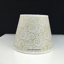 PARALUME CERCHI ORO GLITTERATO 21 CM lampada piantana applique lampadario