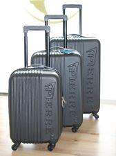 Pierre Reisekoffer Hartschale schwarz 3tlg. Koffer Set Trolley Hartschalenkoffer