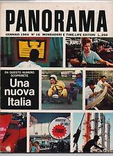 PANORAMA 16 / 1964 lyndon johnson lee oswald russia e MEC boom italiano everest