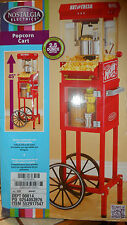 Nostalgia Electric Popcorn Maker Machine Cart Stand Kettle Popper Movie Vint NEW