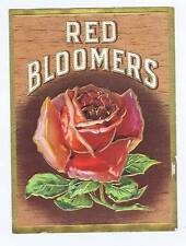 Red Bloomers, original outer cigar box label, rose