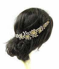 Gold Silver Diamante Hair Vine Bridal Headpiece Headband Rhinestone Wedding 2326