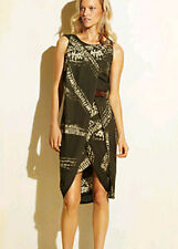 "$398 BCBG ""MAX AZRIA"" ALGAE COMBO SLEEVELESS SILK JERSEY DRESS NWT 0"