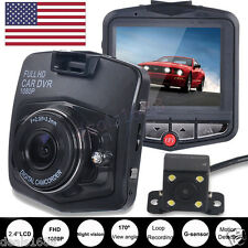 HD 1080P Dual Lens Car DVR Video Recorder Dash Cam Night Vision Rear View Camera