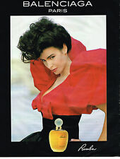 PUBLICITE ADVERTISING 045  1991  BALENCIAGA  parfum femme RUMBA