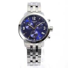 Tissot T055.417.11.047.00 PRC 200 Mens Watch Silver-Tone Blue Dial Chronograph