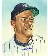 Hank Bauer Autographed 8x10 Color Photo of Ron Lewis Painting NY Yankees